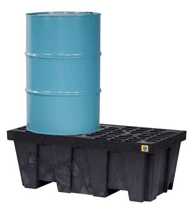 Justrite® 2 Drum EcoPolyBlend Spill Control Pallet, No Drain