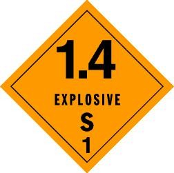 Explosives 1.4S Placard, Package of 25