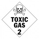 Toxic Gas Placard, Package of 25
