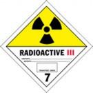Radioactive Category III Label, Roll of 500