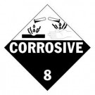 Corrosive Label, Roll of 500