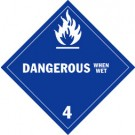 Dangerous When Wet Placard, Package of 25