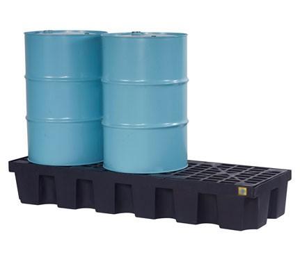 Justrite® 3 Drum EcoPolyBlend Spill Control Pallet, No Drain