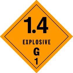 Explosives 1.4G Placard