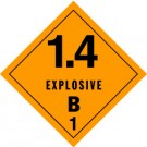 Explosives 1.4B Placard