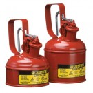 1 Quart Justrite (1L) Steel Compliant Safety Type 1 Can for Flammables