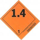 Explosives 1.4 (A,B,C,D,E,F,G,S) Various Peel Off Label,