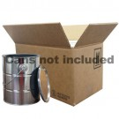 2 x 1 Gallon Metal Paint Can Box with Partitions only (4G/Y14.3)
