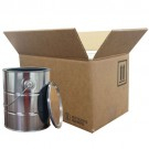 2 x 1 Gallon Metal Paint Can Box Kit with Partitions, Paint Cans, and Ring Locks Included (4G/Y14.3)