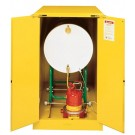 Sure-Grip® EX Horizontal Drum Safety Cabinet with Cradle Track, Cap. 55-gal. drm, 2 sc doors, Yel.