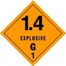 Explosives 1.4G Placard