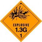 Explosives 1.3G Label