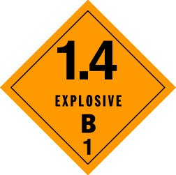 Explosives 1.4B Placard, Package of 25