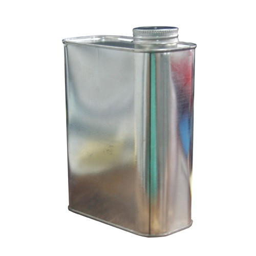 """1 Quart F-Style Metal Oblong Can - 1.25"""" Opening"""