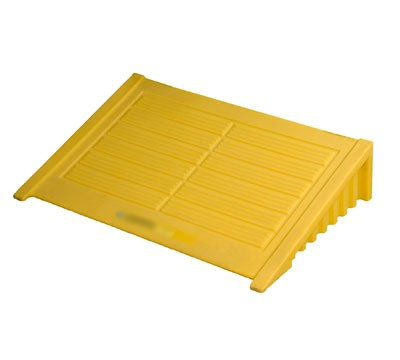 Justrite® Ramp for 4 Drum EcoPolyBlend Spill Control Pallets (Square), Yellow