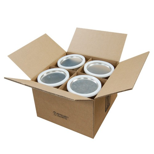 4 x 1 Gallon Metal Paint Can Shipper, with Paint Cans & Ringlocks (4G/Y25.9)