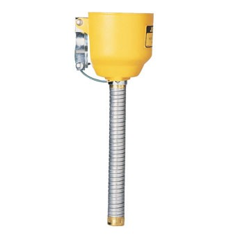 Bolt-on Funnel with Galvanized Hose for Steel Safety Cans Only