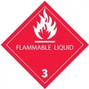 Flammable Liquid Label, Roll of 500