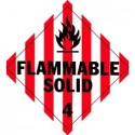 Flammable Solid Placard, Package of 25