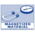 Magnetized Material Label, Roll of 500