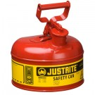 1 Gallon Justrite (4L) Steel Compliant Safety Type 1 Can for Flammables