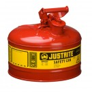 2.5 Gallon Justrite (9.5L) Steel Compliant Safety Type 1 Can for Flammables