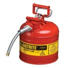 2 Gallon (7.75L) Steel Compliant Type II Accuflow Safety Can for Flammables
