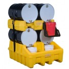Justrite® Stack Module, EcoPolyBlend Drum Management System, Yellow