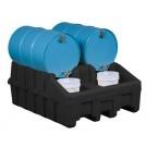 Justrite® Base Module, EcoPolyBlend Drum Management System, Black