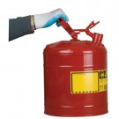5 Gallon Justrite (19L) Steel Compliant Safety Type 1 Can for Flammables