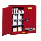 Sure-Grip® EX Combustibles Safety Cabinet for paint and ink, Cap. 40 gal., 3 shelves, 2 m/c dr, Red.