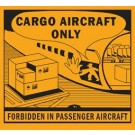 Cargo Aircraft Only Label, Roll of 500