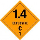 Explosives 1.4C Label, Roll of 500