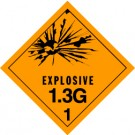 Explosives 1.3G Placard