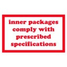 Inner Packages Comply with Prescribed Specifications Label, Roll of 500