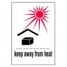 Keep Away from Heat Label, Roll of 500