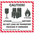 Lithium Battery Label, Roll of 500