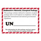 Radioactive Material, Excepted Package Label, Roll of 500
